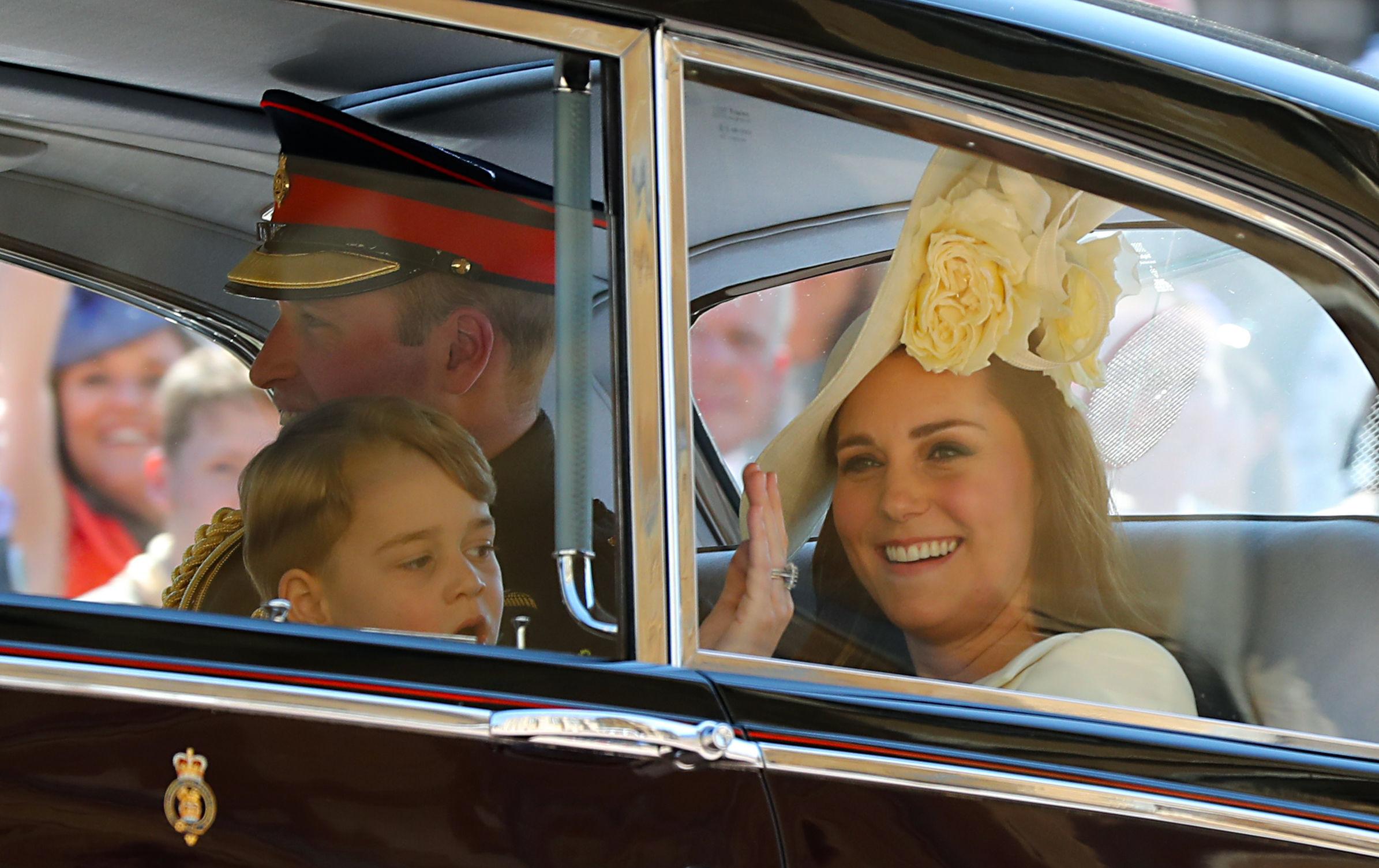 Príncipe William, príncipe George, princesa Kate