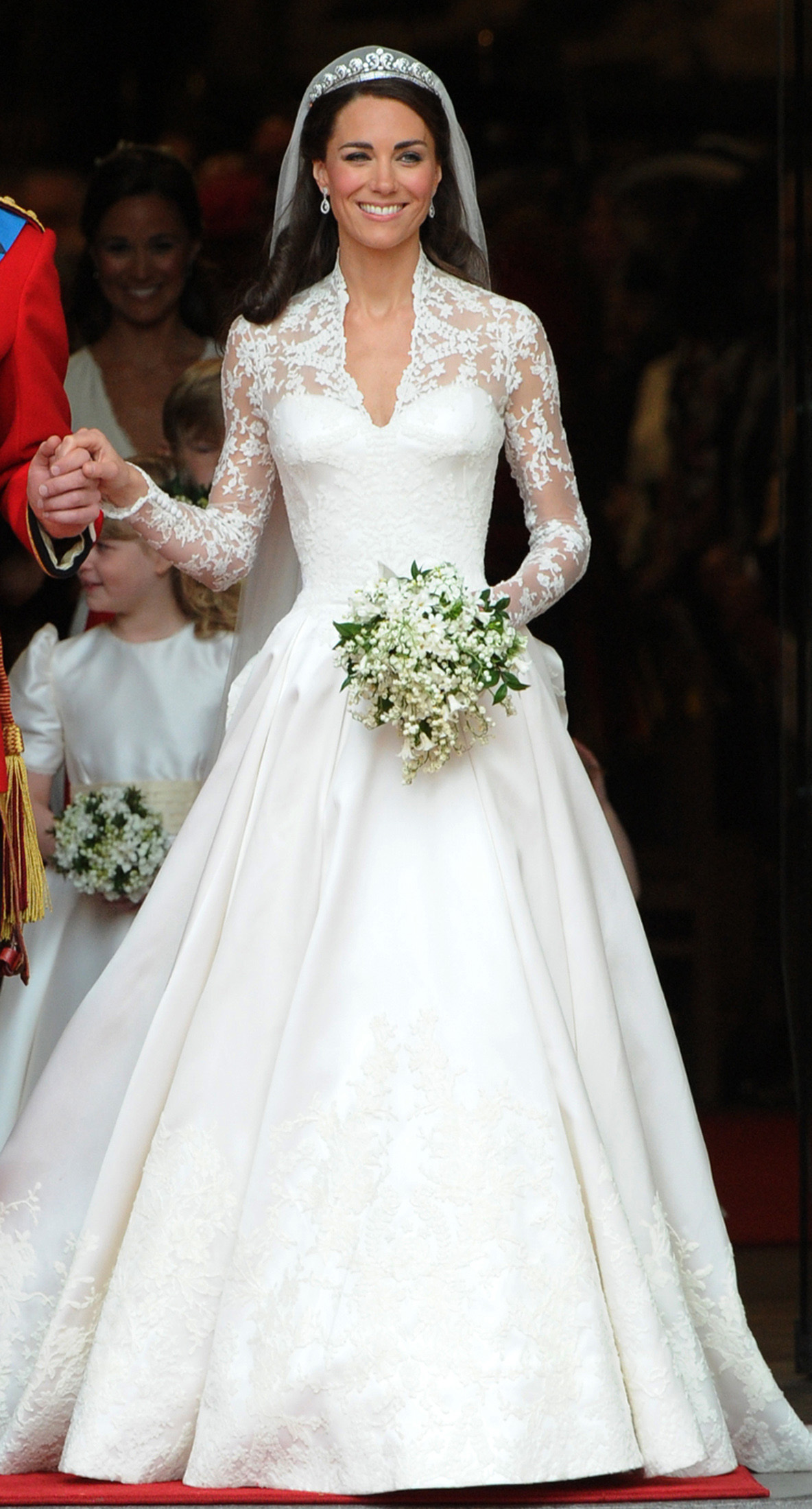 Kate, Duchess of Cambridge, comes out of