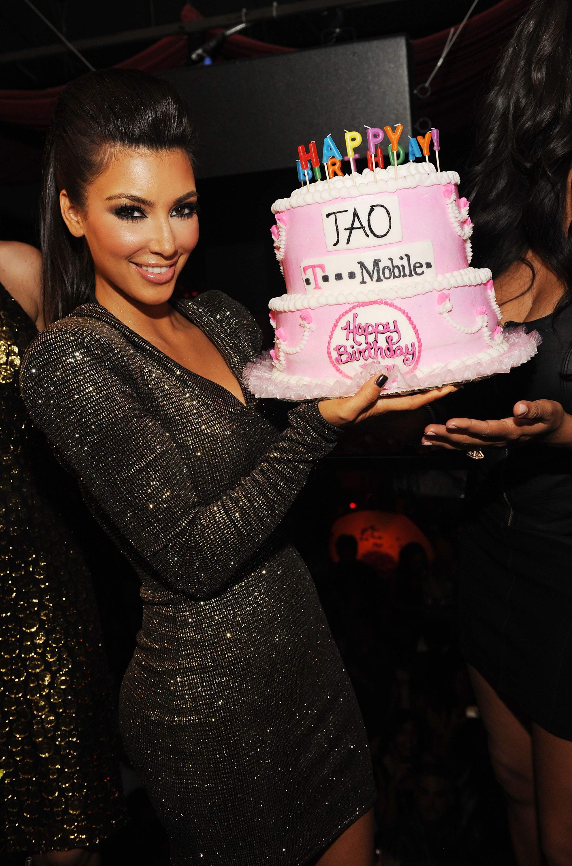 Kim Kardashian Celebrates Her 29th Birthday At TAO With T-Mobile's Motorola CLIQ