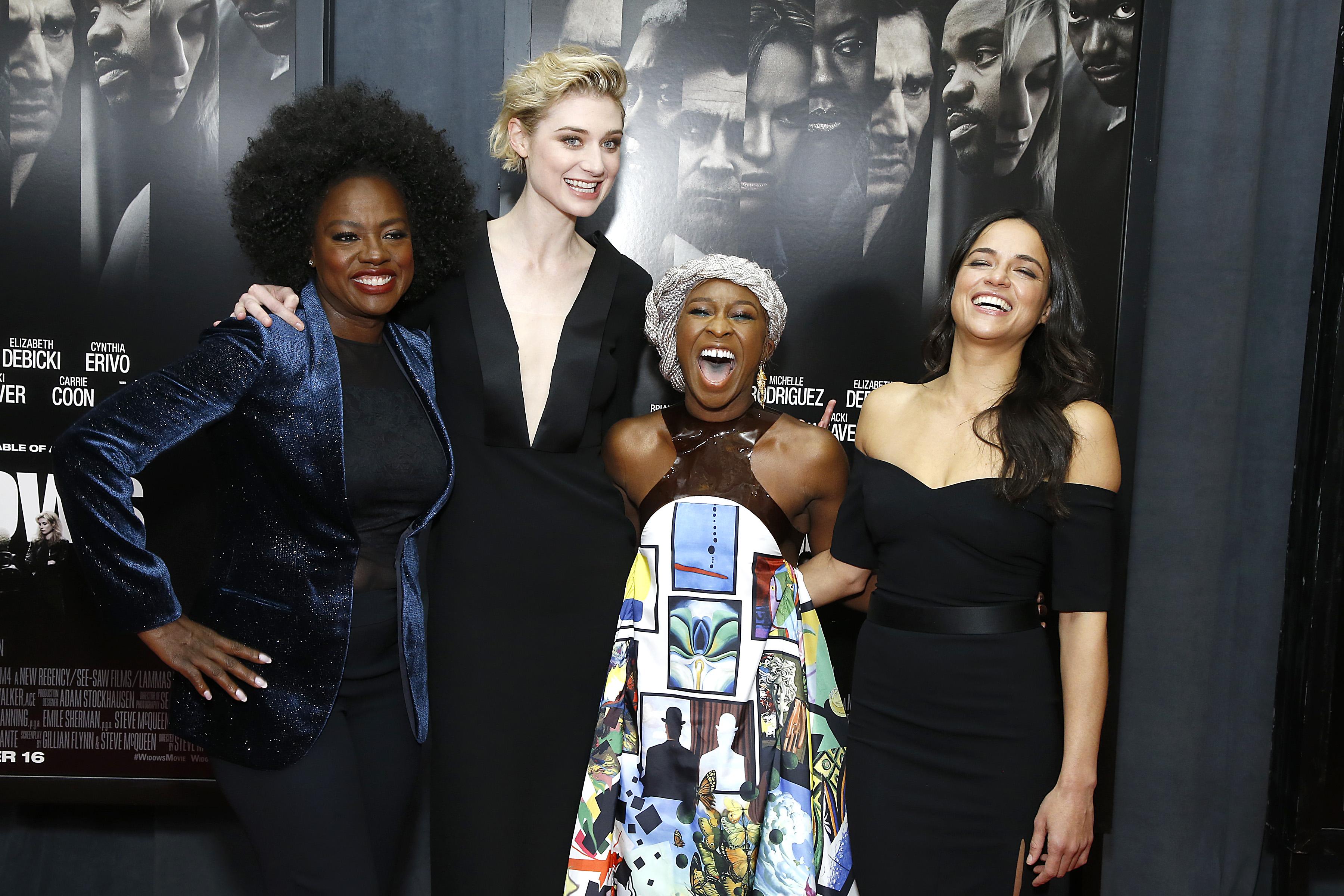 Viola Davis, Elizabeth Debicki, Cynthia Erivo and Michelle Rodriguez