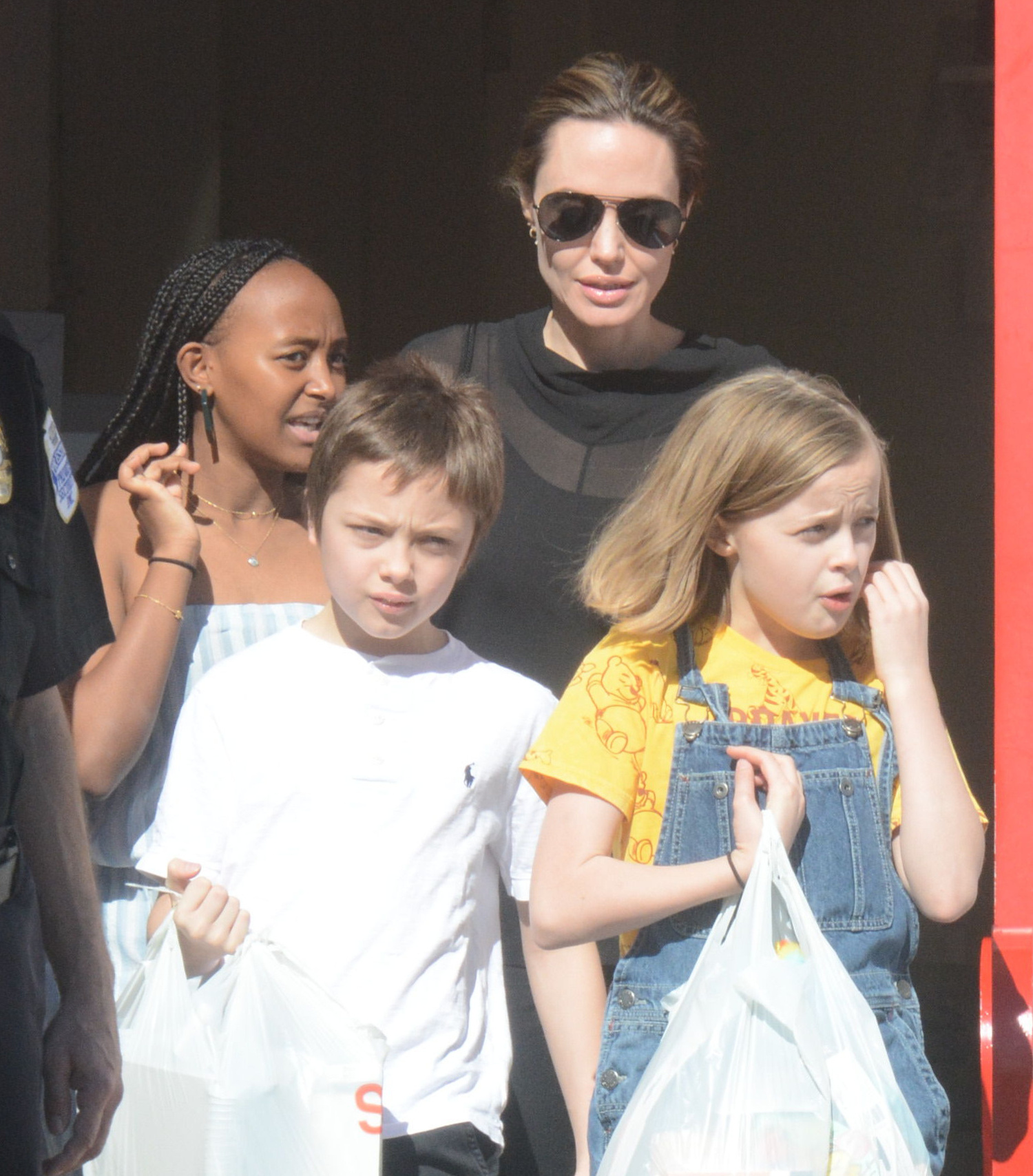 Angelina Jolie, Zahara, Knox, Vivienne