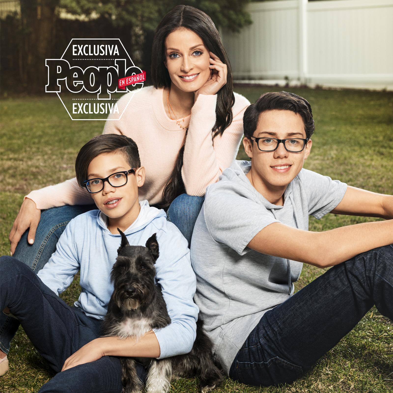 Dayanara Torres y sus hijos Cristian y Ryan