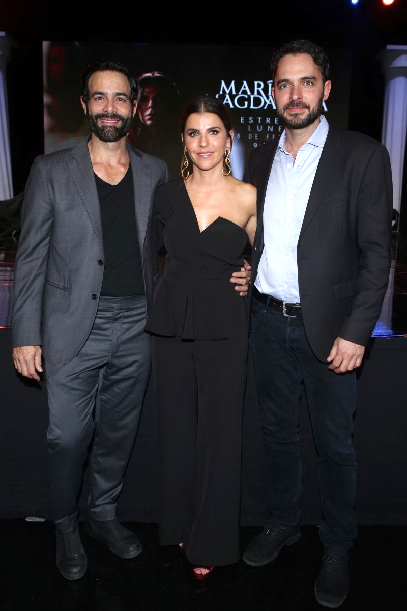 Luis Roberto Guzmán, María Fernanda Yepes y Manolo Cardona