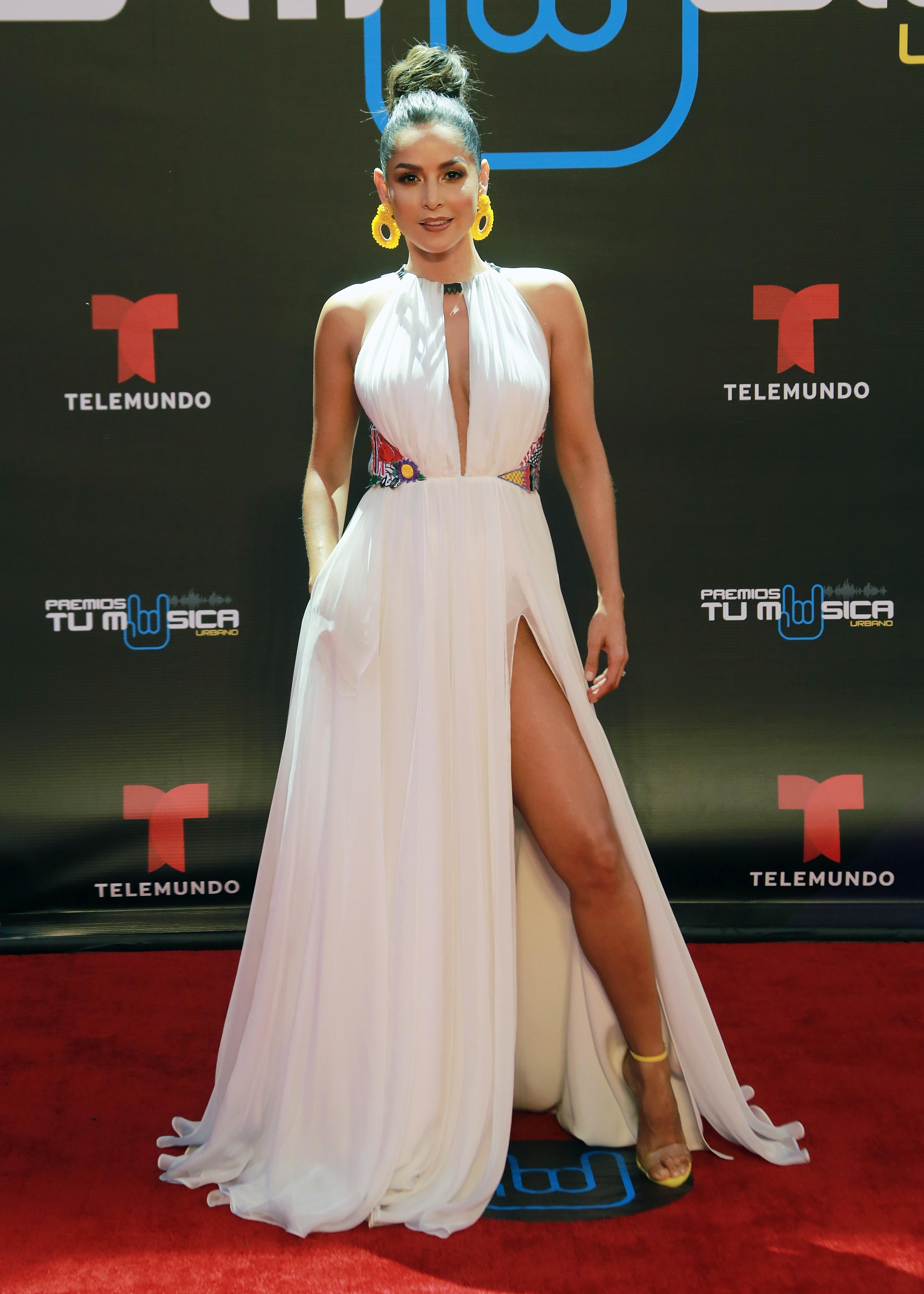 Carmen Villalobos, look, premio tu musica urbano, alfombra, puerto rico