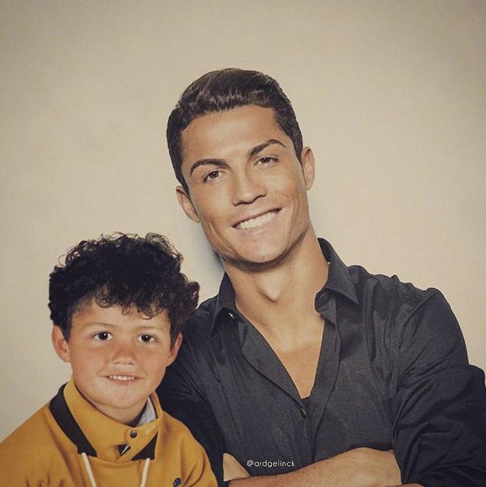 Cristiano Ronaldo y version joven