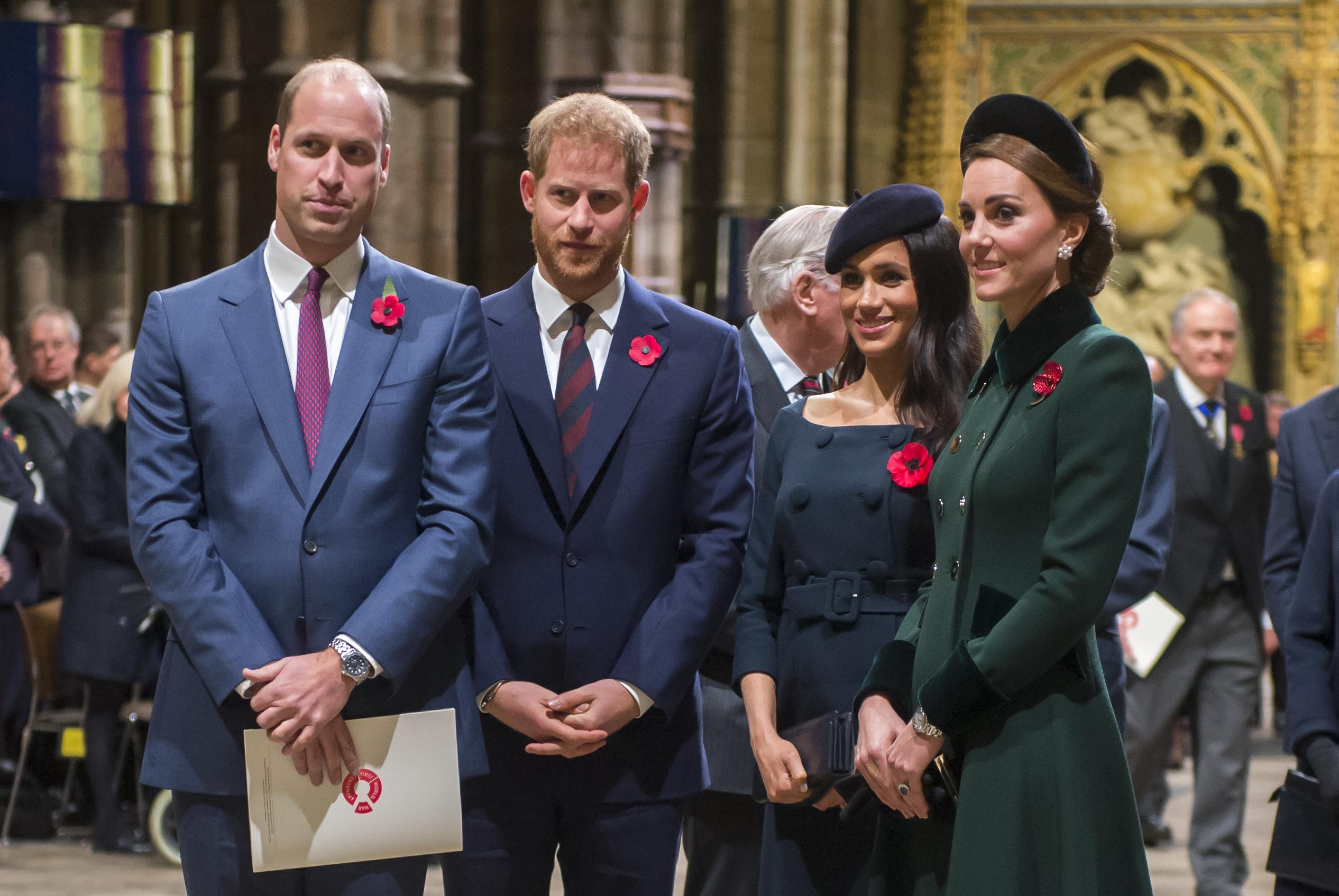 Principe William, Principe Harry, Meghan Markle, Kate Middleton