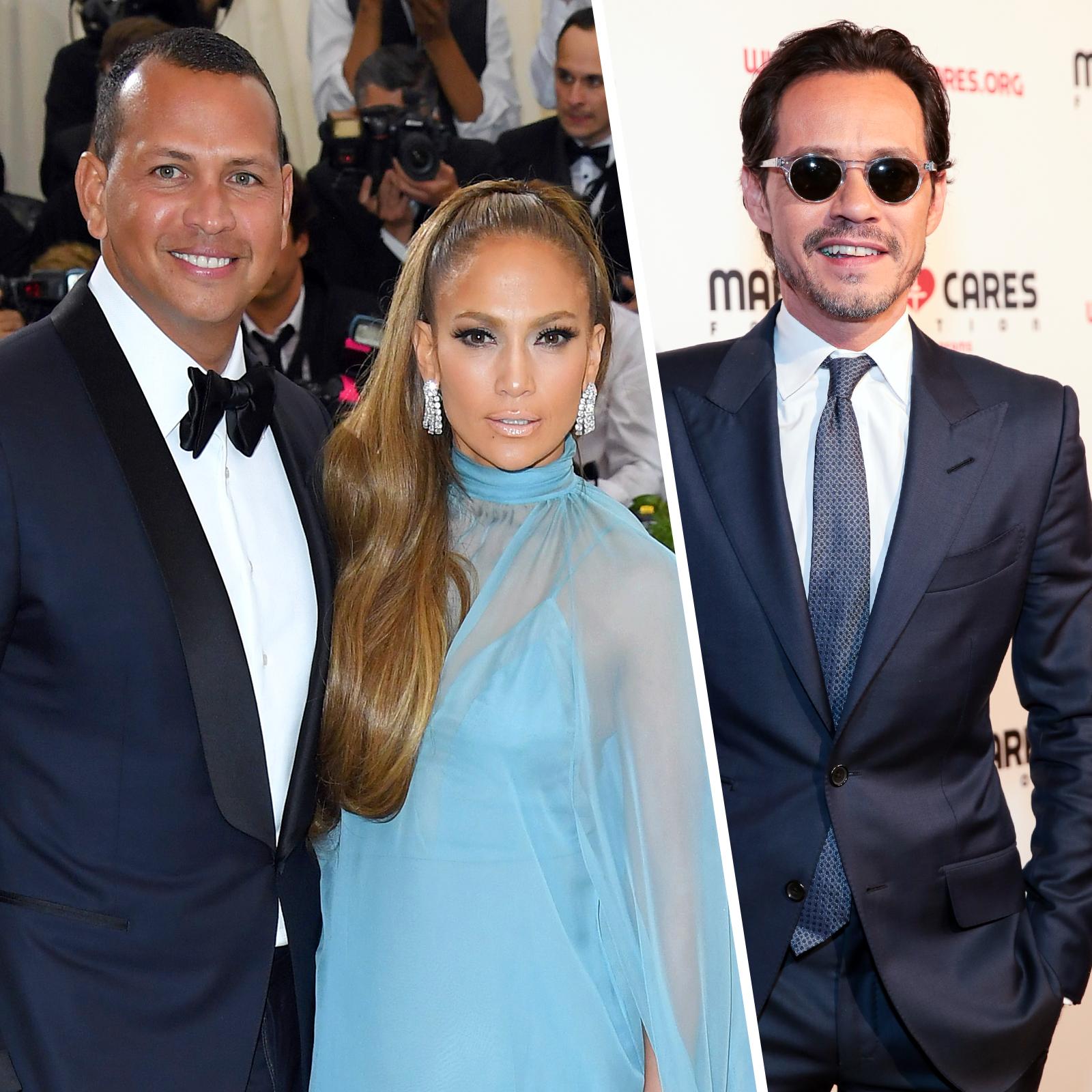 Alex Rodriguez, Jennifer Lopez y Marc Anthony