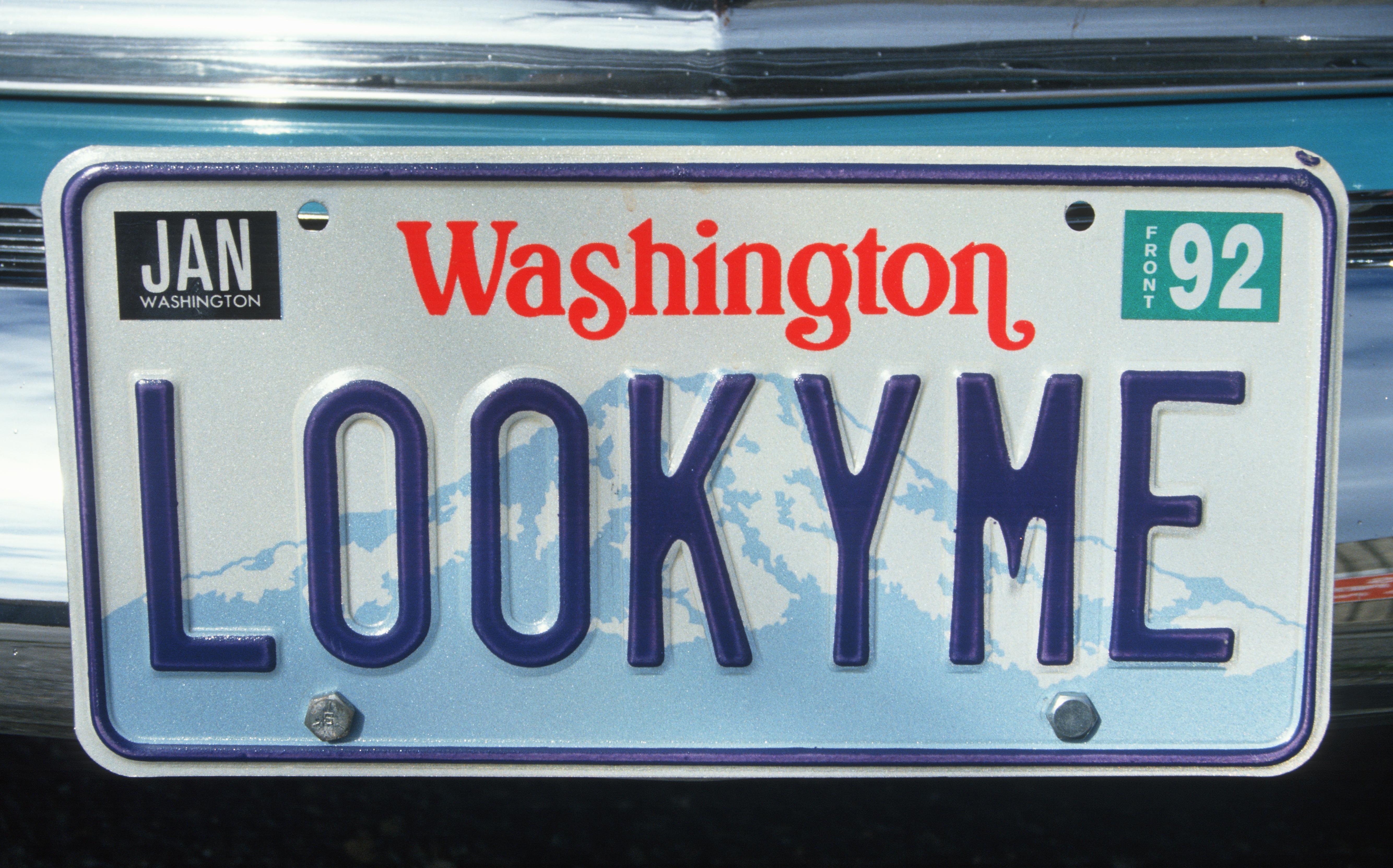 Vanity License Plate - Washington