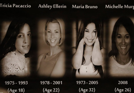 Gargiulo's alleged victims Tricia Pacaccio, Ashley Ellerin, Maria Bruno and Michelle Murphy