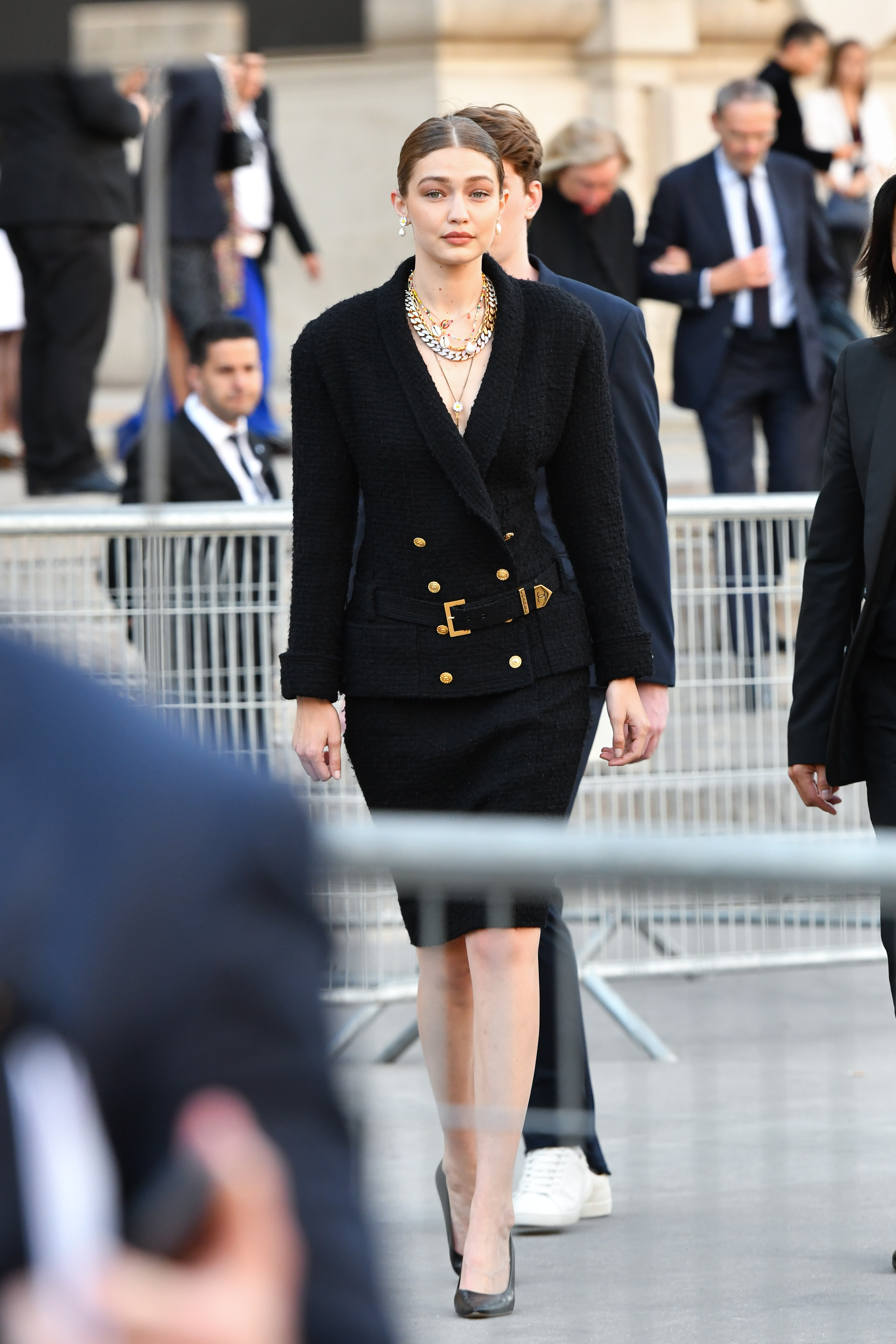 Gigi Hadid, Paris, chanel, streetstyle, look, semana de la moda de Paris