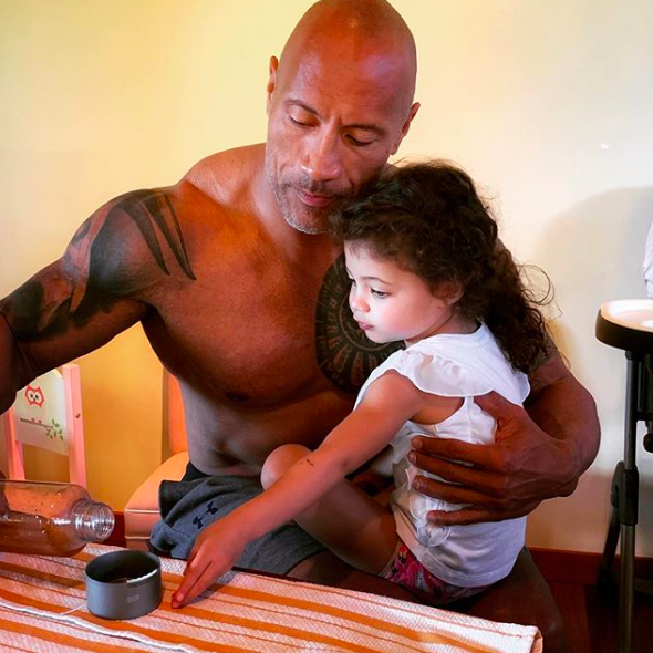 Dwayne Johnson, hija