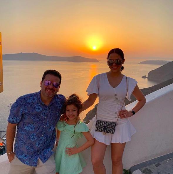 Yara Ayala y familia