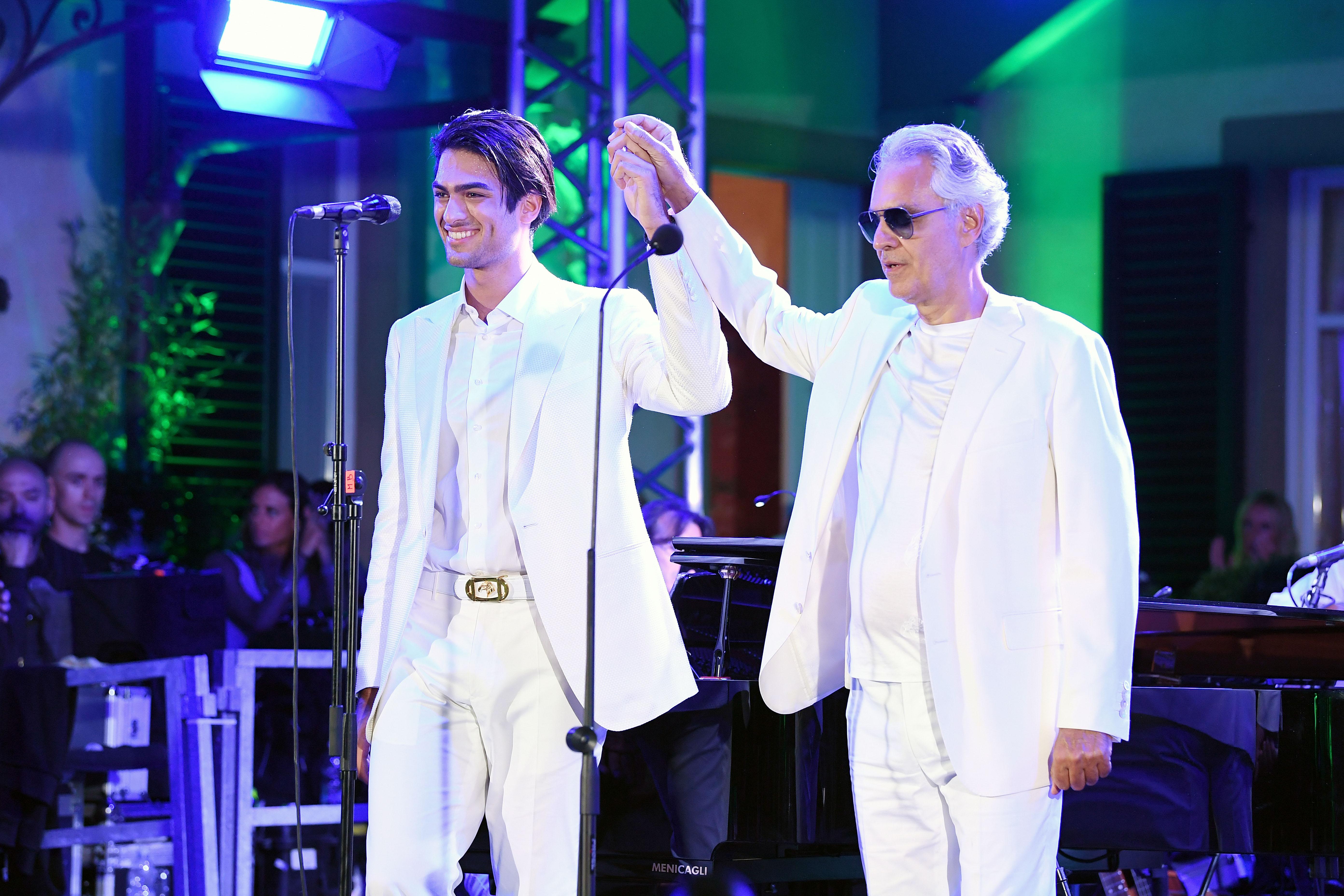 Andrea Bocelli hijo Matteo Bocelli Andrea Bocelli Celebrity Fight Night