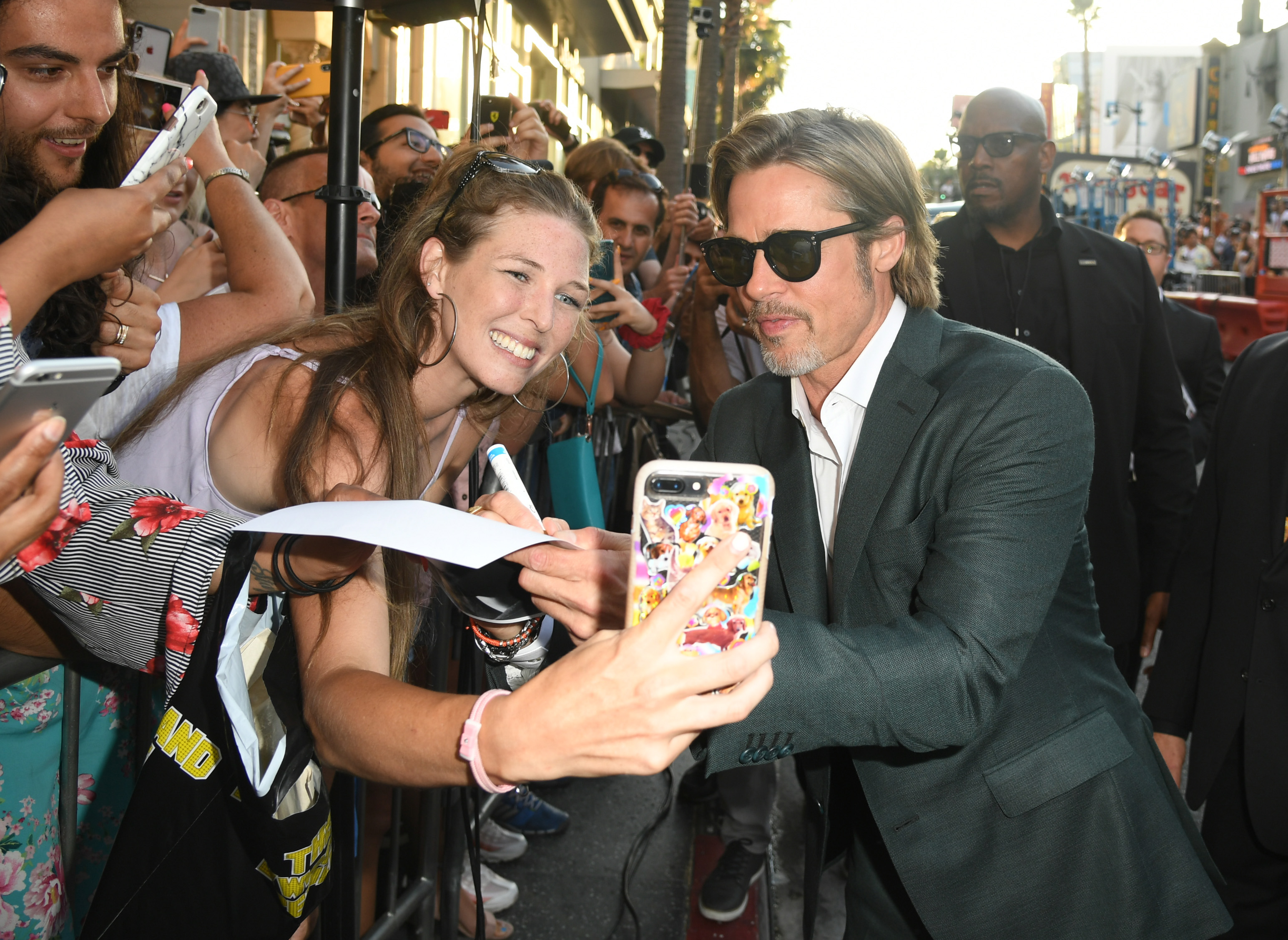 Brad Pitt premiere Once Upon A Time In Hollywood
