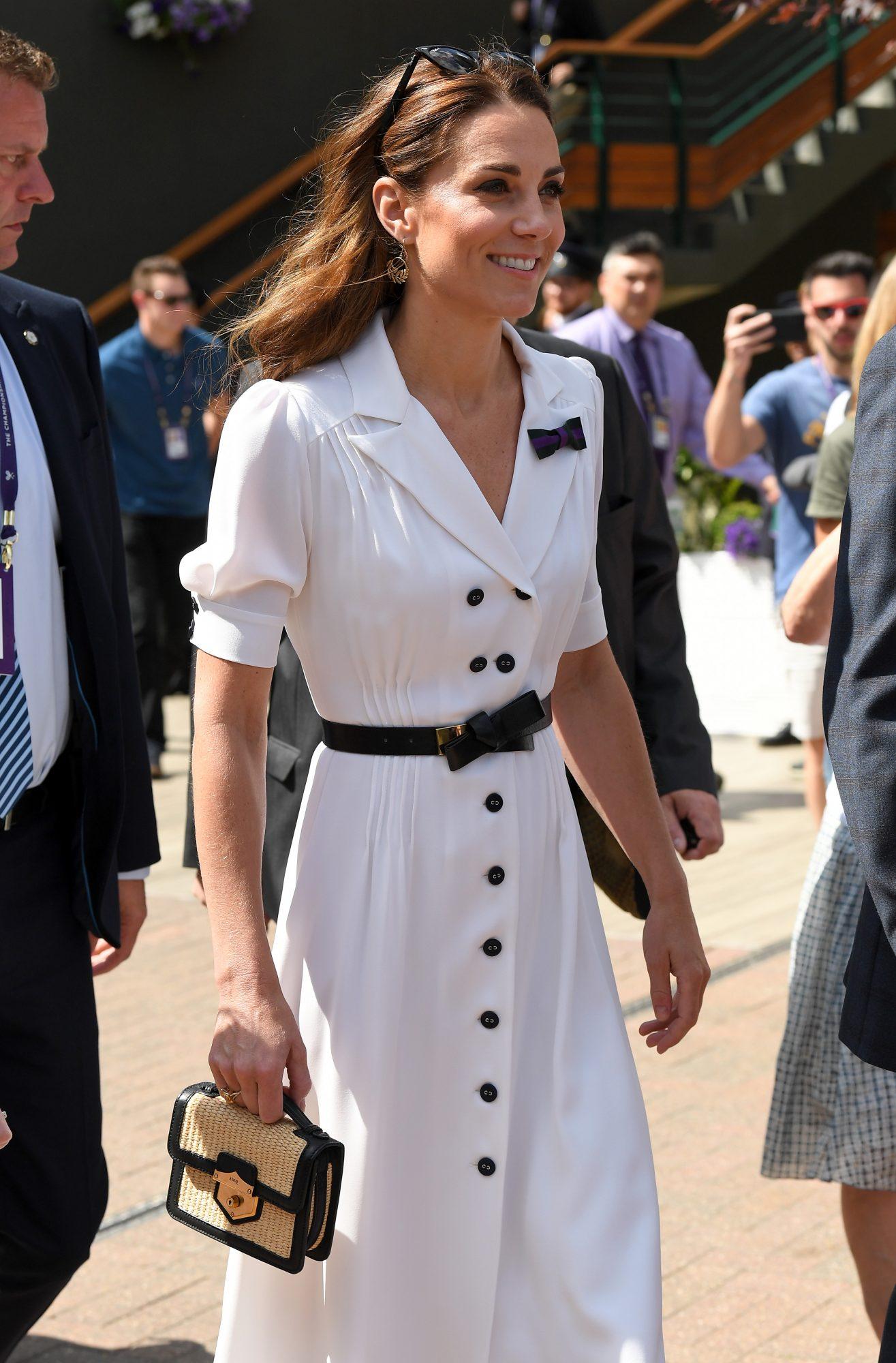 Kate Middleton, look, vestido blanco, Wimbledon, torneo de tenis