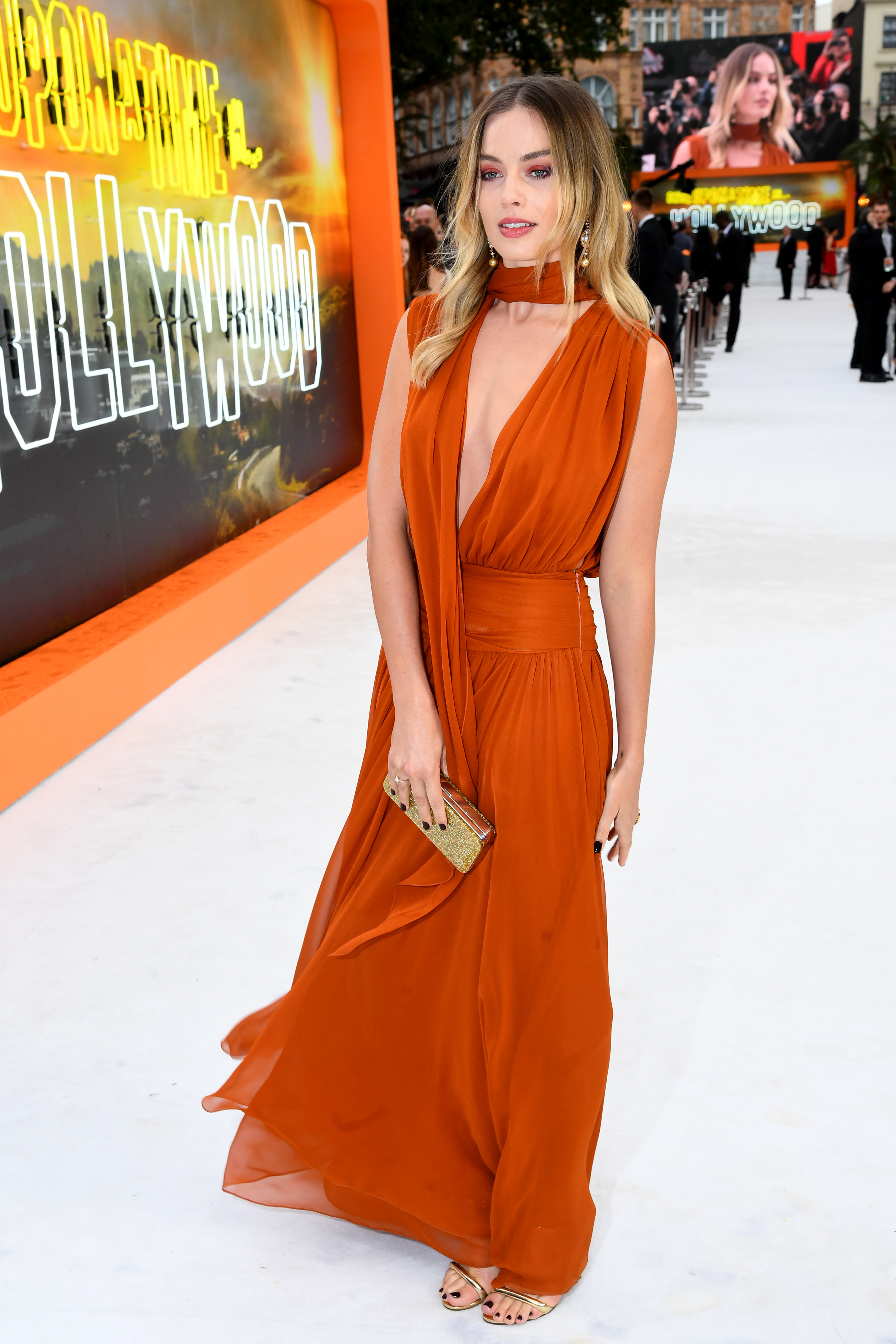 margot robbie, look, premier, londres, Once Upon a Time in Hollywood