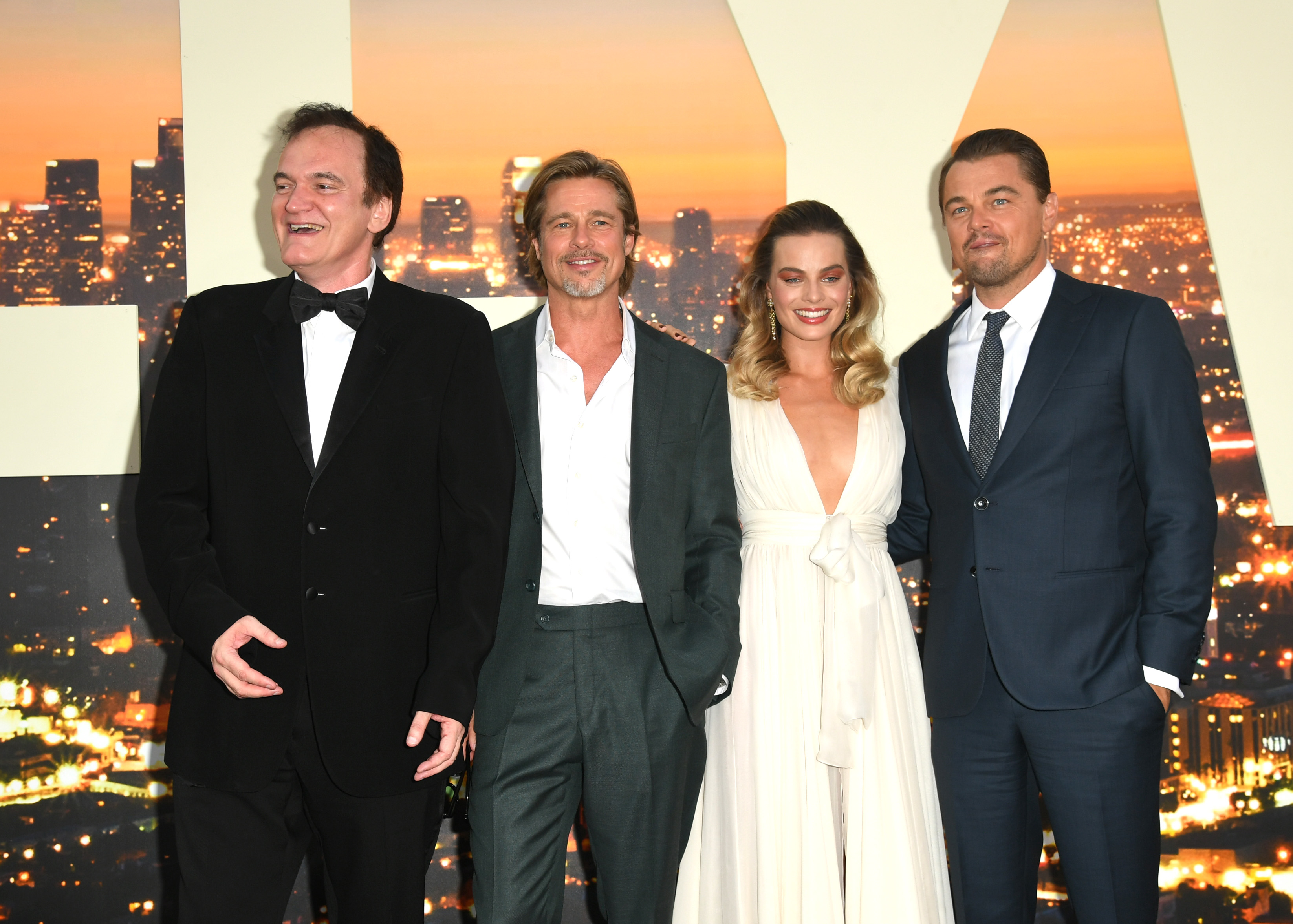 Quentin Tarantino, Brad Pitt, Margot Robbie, Leonardo DiCaprio premiere Once Upon A Time In Hollywood