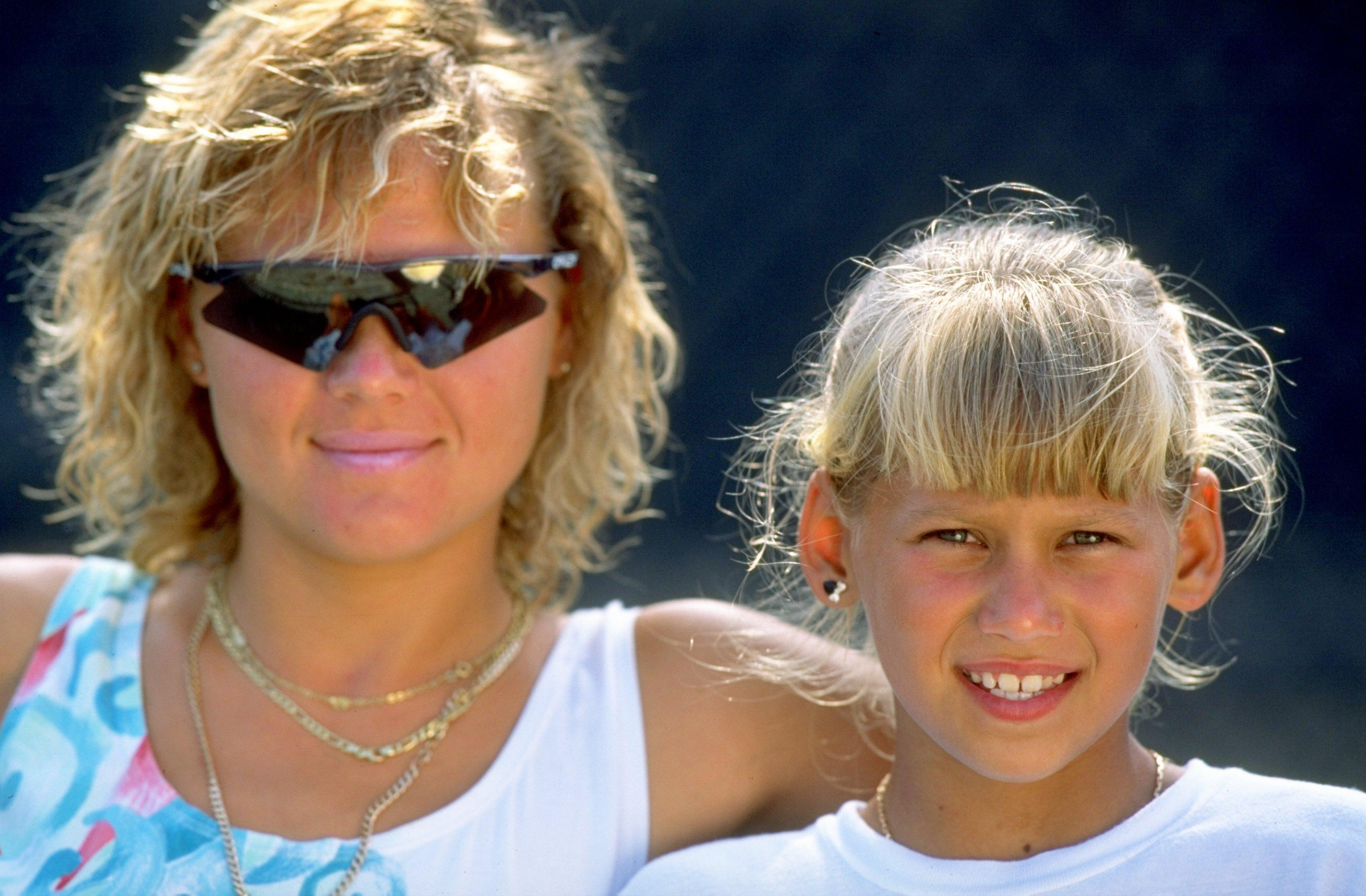 Anna Kournikova with her mother Alla