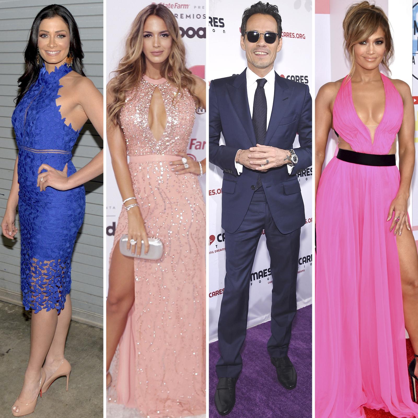 Dayanara Torres, Shannon De Lima, Marc Anthony y Jennifer Lopez