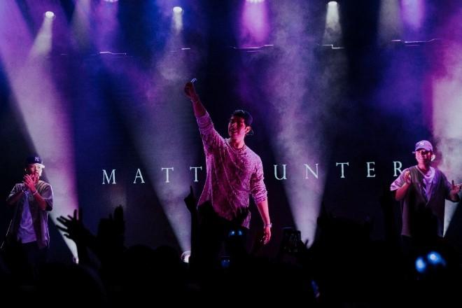 Matt Hunter con CNCO en nueva york