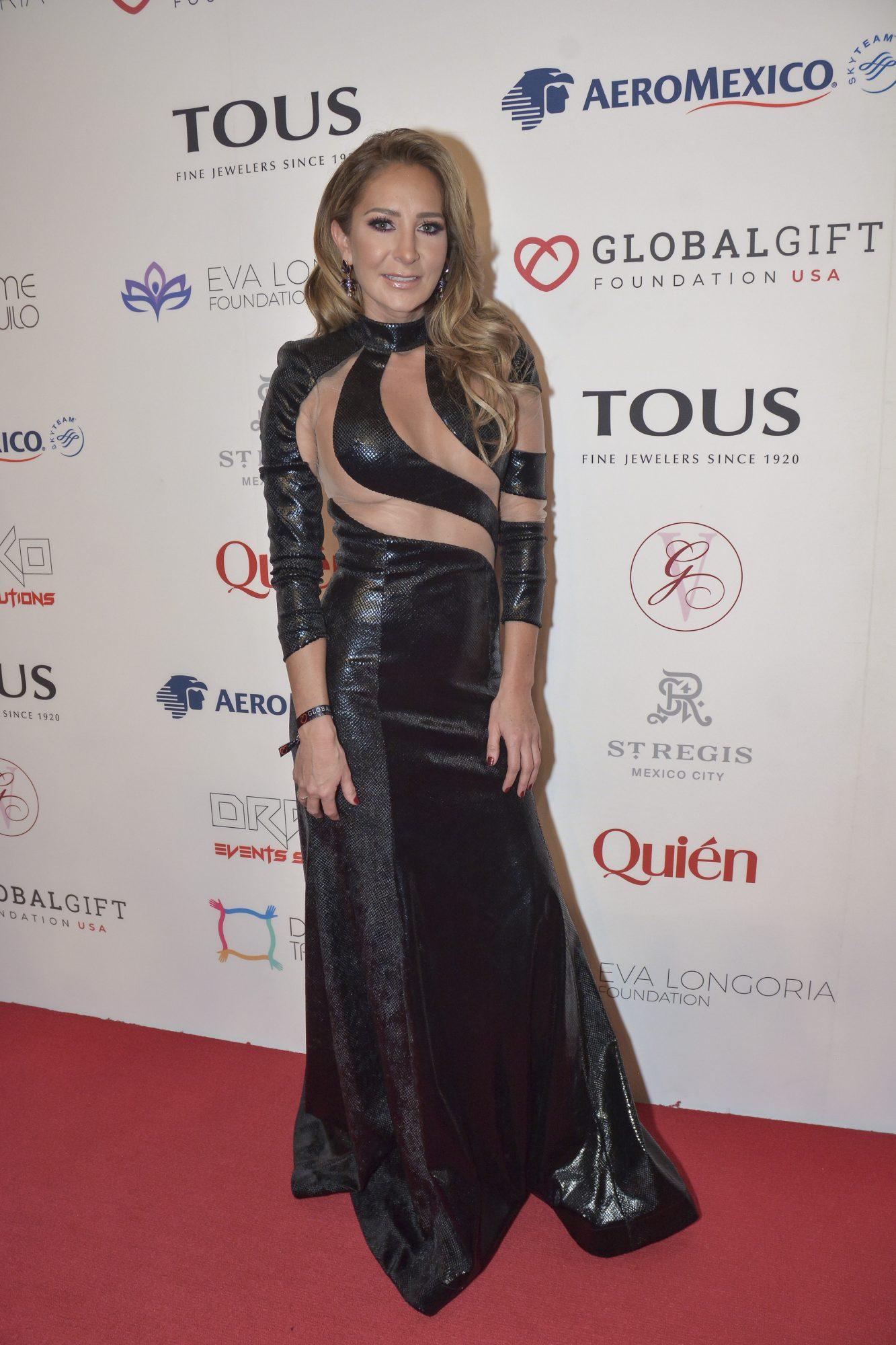 Geraldine Bazan, look, global gift gala