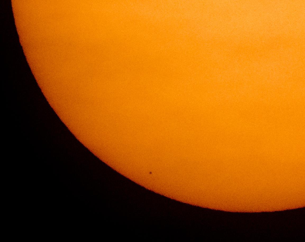 Mercurio, Mercurio tránsito frente al sol
