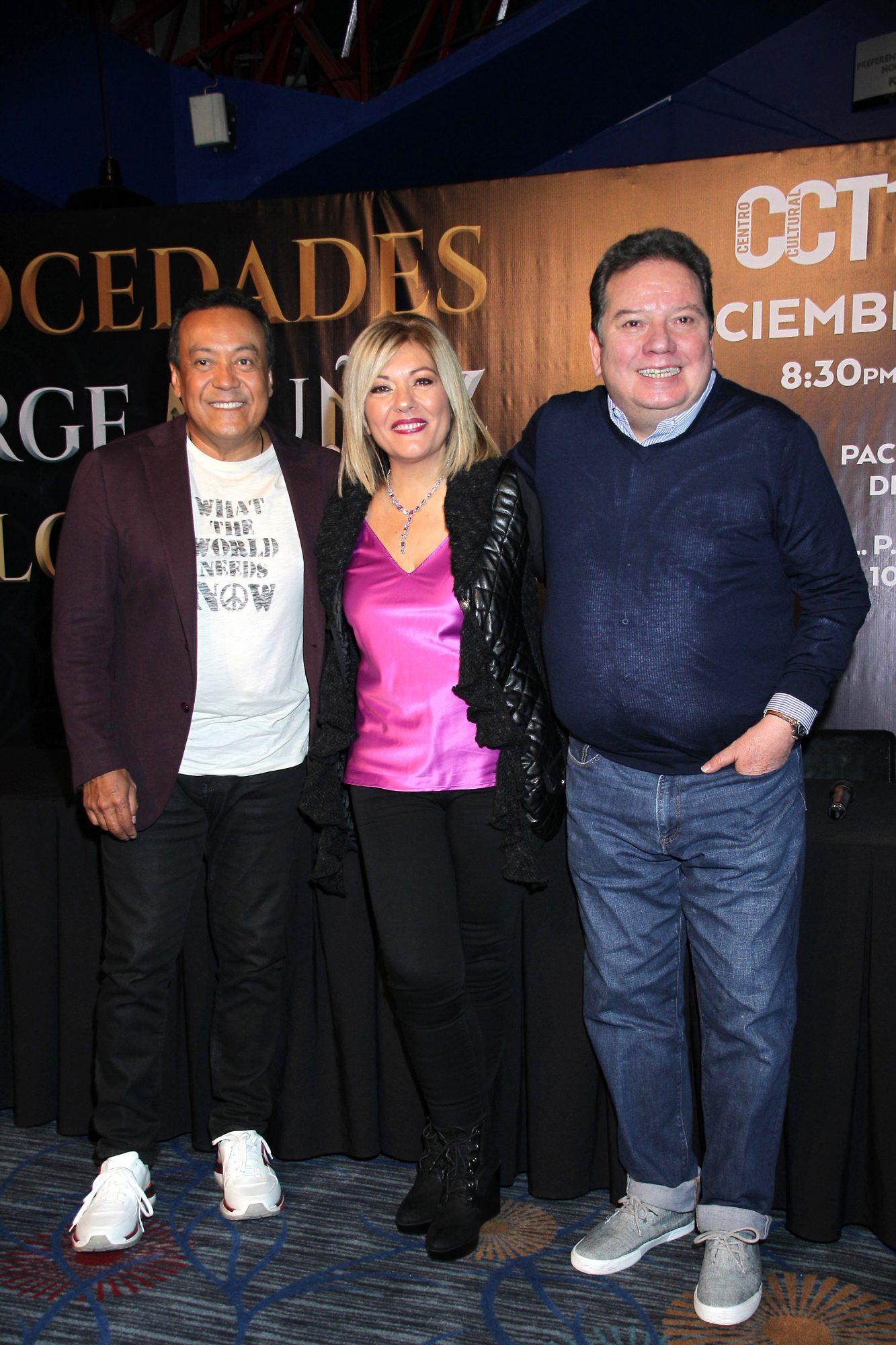 """Jorge """"Coque"""" Muñiz, Carlos Cuevas y Rosa Rodríguez, vocalista de Mocedades gira en mexico"""