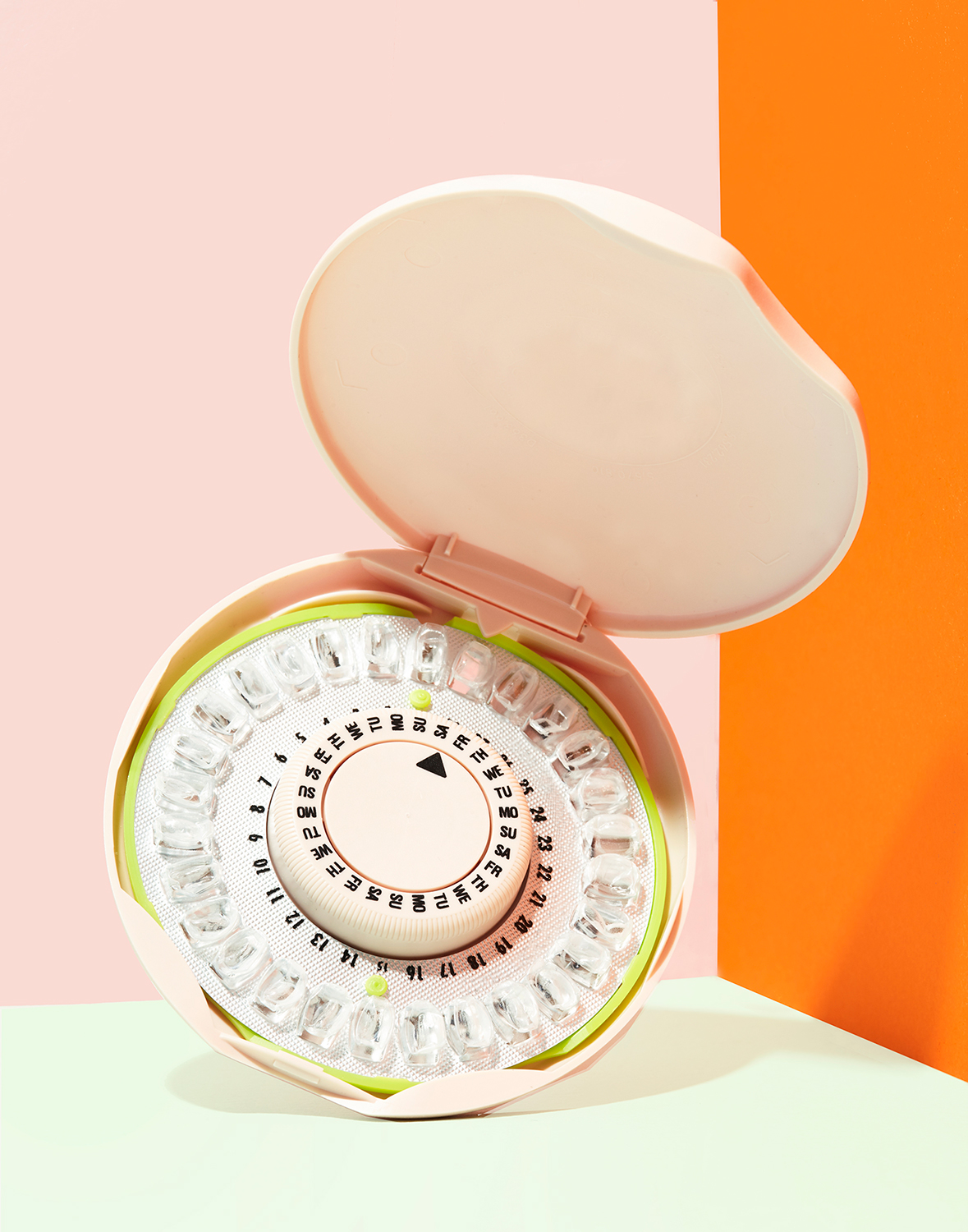 Birth Control Pill Packet Colorful