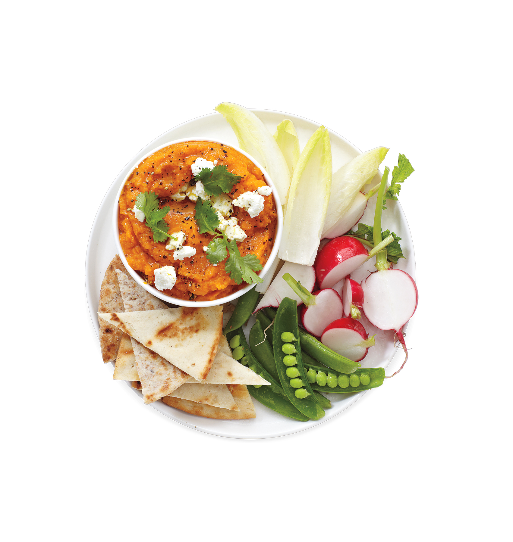Creamy Carrot Dip With Crudités