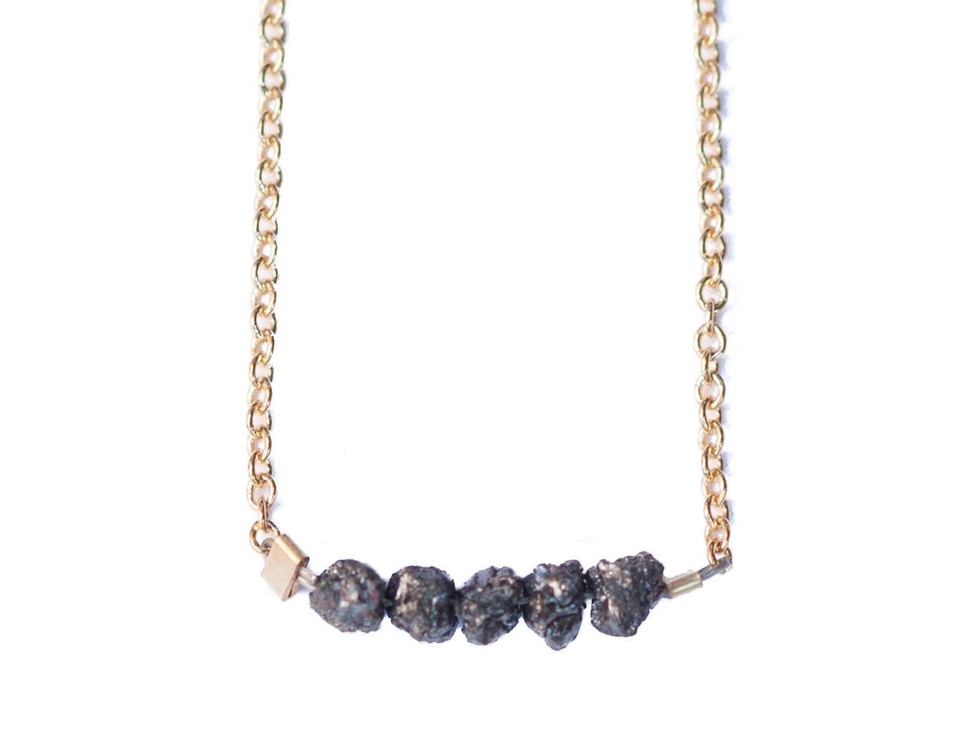 Rough Diamond Bridge Necklace
