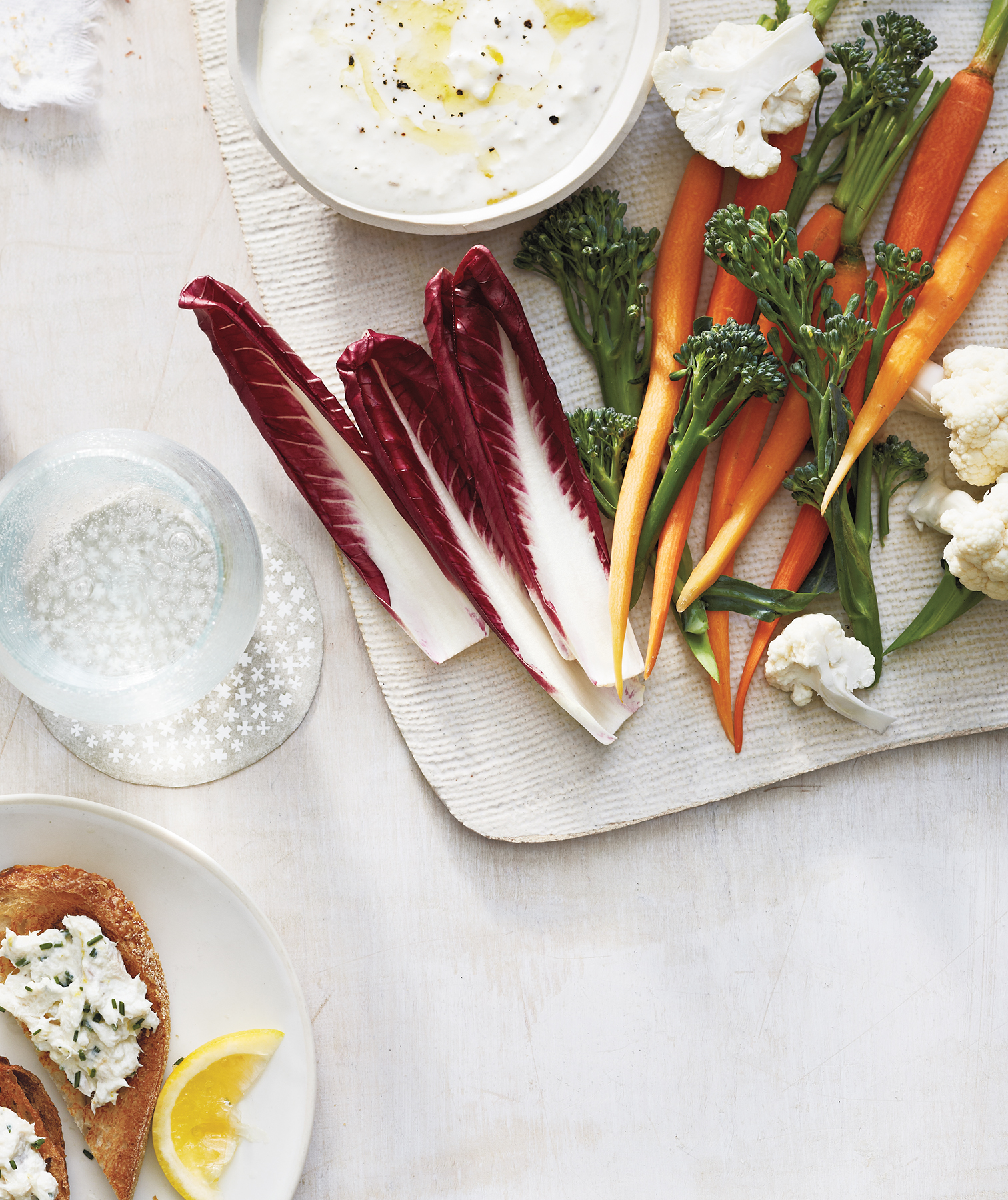 Creamy Feta and Cumin Dip With Winter Crudités