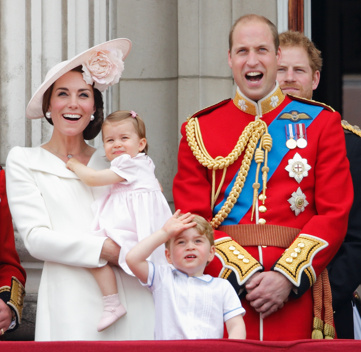 royal family trooping of the colour