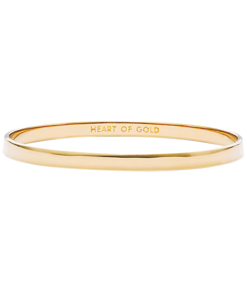 "Kate Spade Idiom Collection ""Heart of Gold"" Bangle Bracelet"
