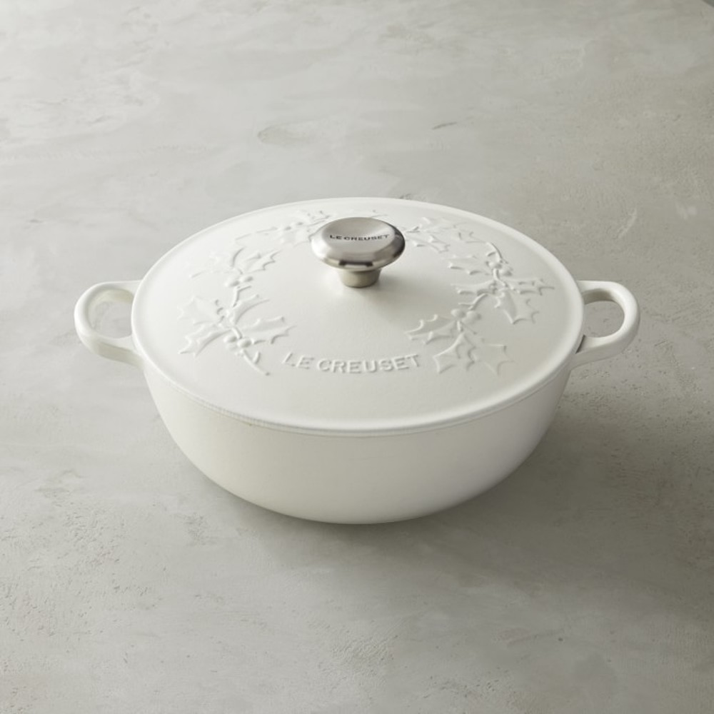 Le Creuset White Holly Dutch Oven