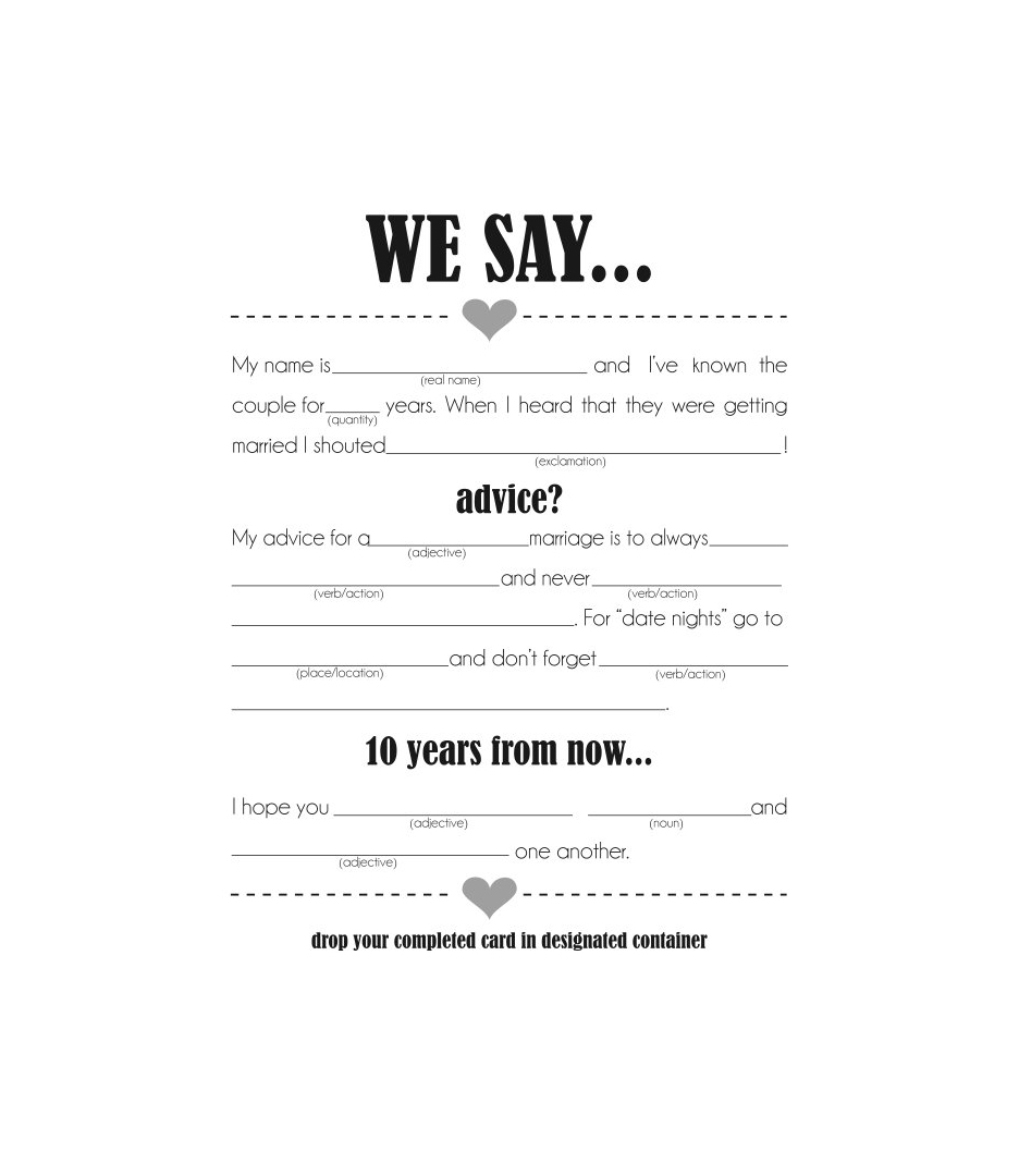 Mad Libs for Couples