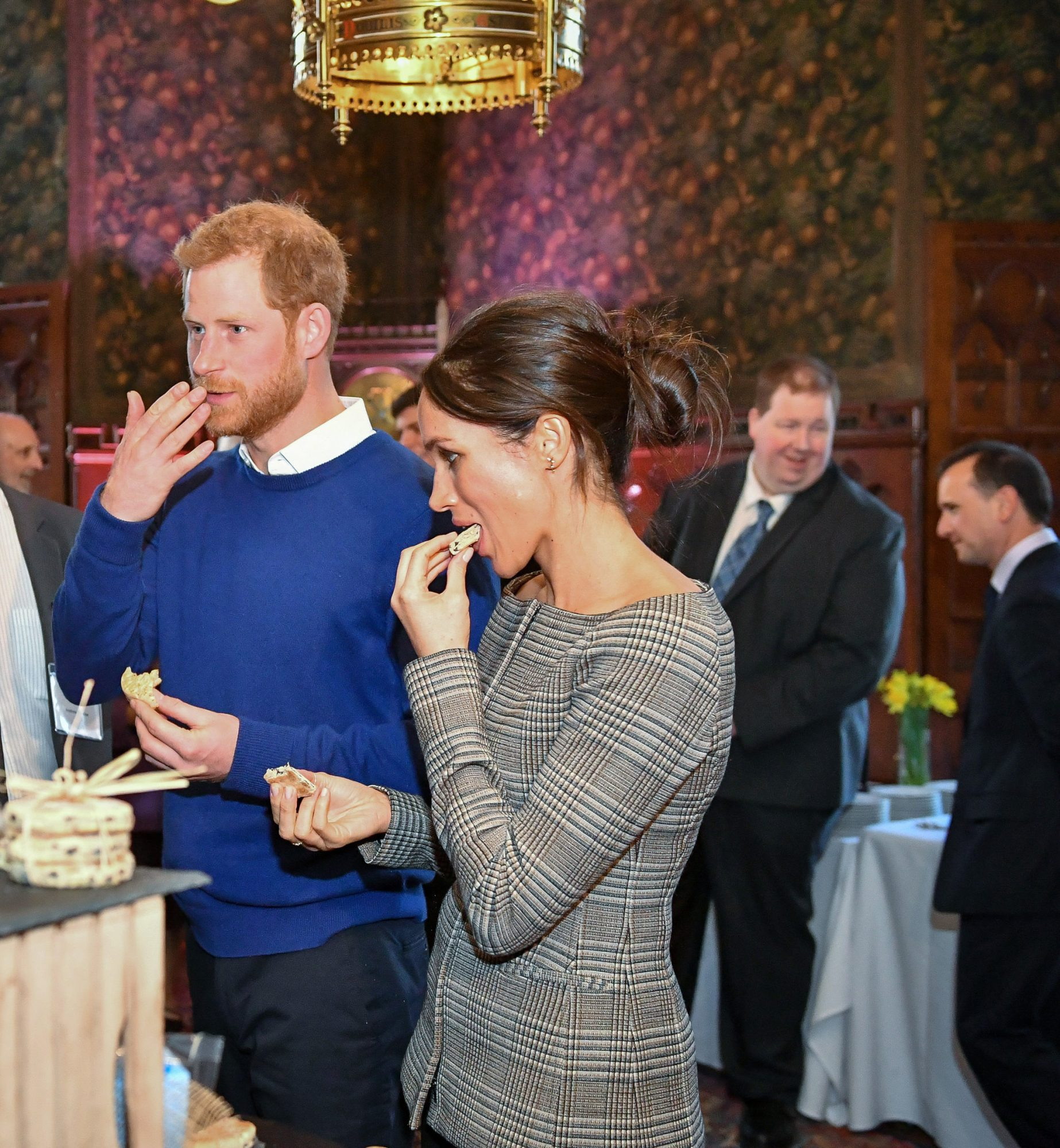 Prince Harry Meghan Markle Eating Cake