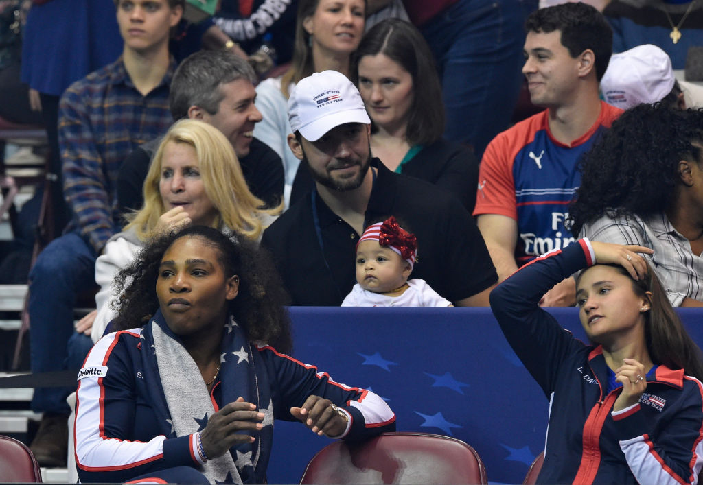 Serena Williams Baby at Fed Cup