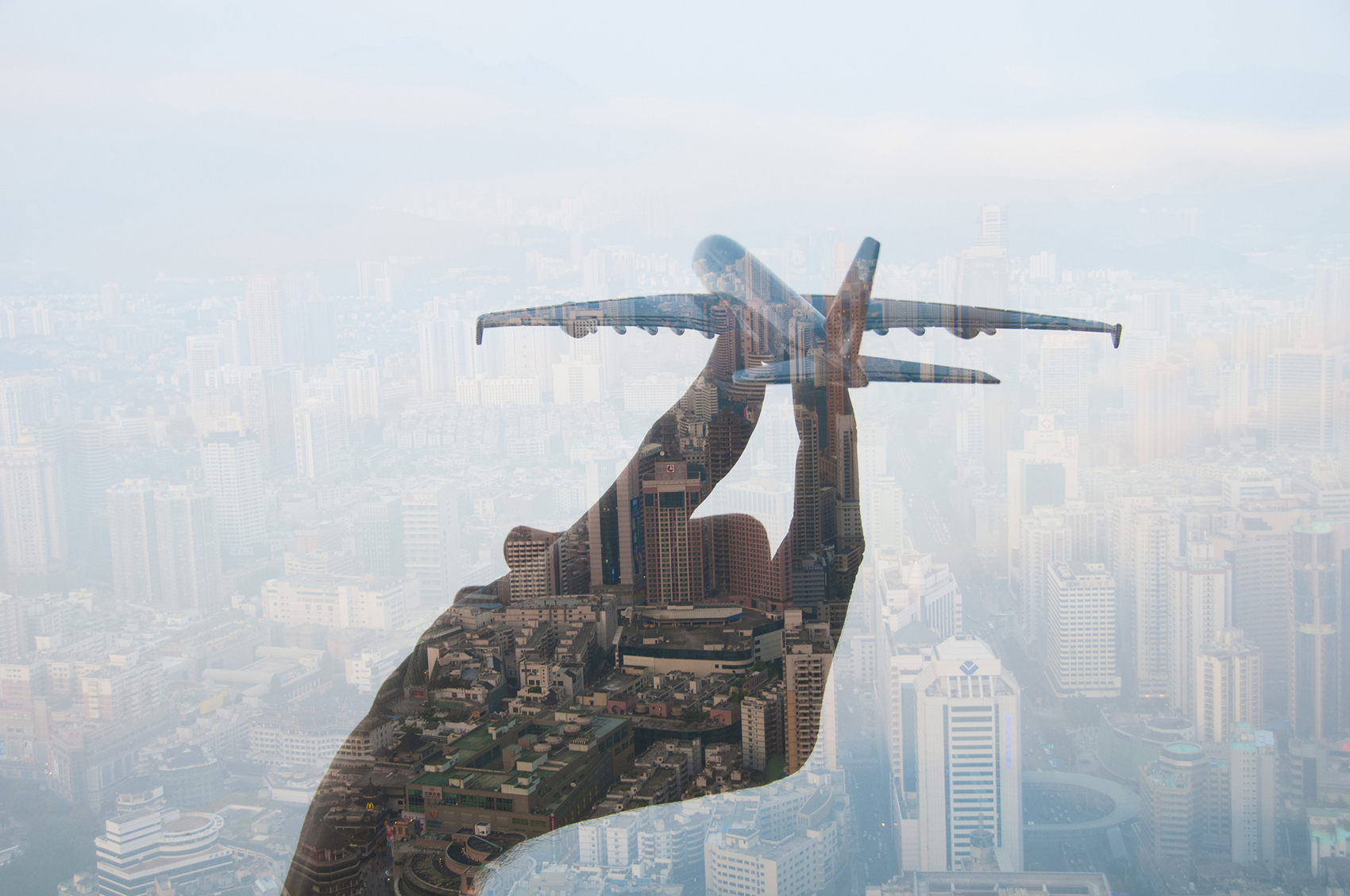 Double Exposure of Travel Still Life