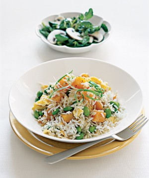 Coconut Rice With Winter Squash