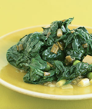Spinach With White Wine
