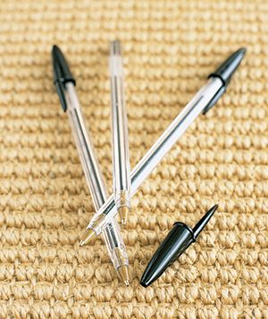 Pens on carpet