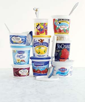 Various yogurts