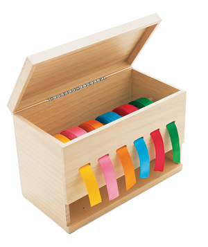 Double-duty ribbon organizer