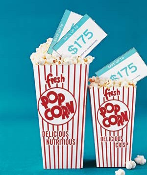 Popcorn with coupon