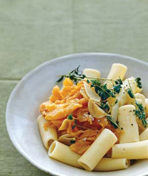 Rigatoni With Sweet Potato, Oregano, and Parmesan
