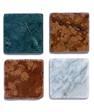 Marble tile samples