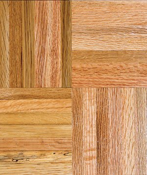 Hardwood flooring sample