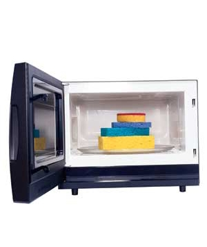 Microwave with sponges