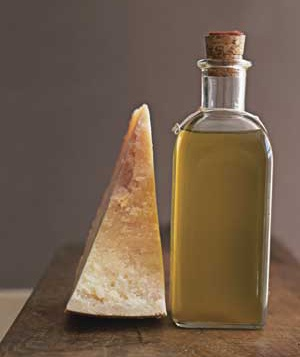 Extra-virgin olive oil and Parmigiano-Reggiano