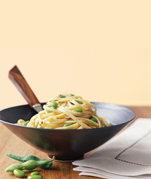 Linguine With Garlic and Soy